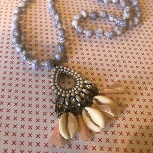 BaubleBar Jewelry - BAUBLEBAR- shell and tassel necklace